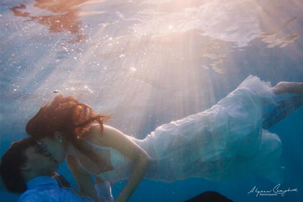 Arizona underwater trash the wedding dress photographer