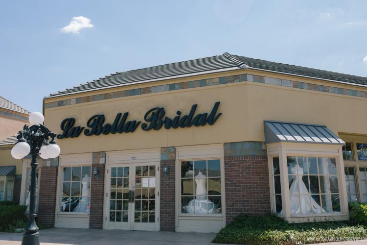 La Bella Bridal Shop in Mesa, Arizona storefront