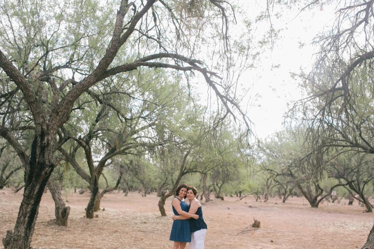 gay engagement photo session in Arizona desert