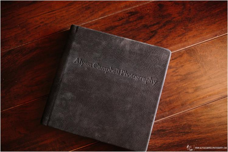 suede leather flushmount wedding album by Alyssa Campbell Photography Phoenix wedding photographer