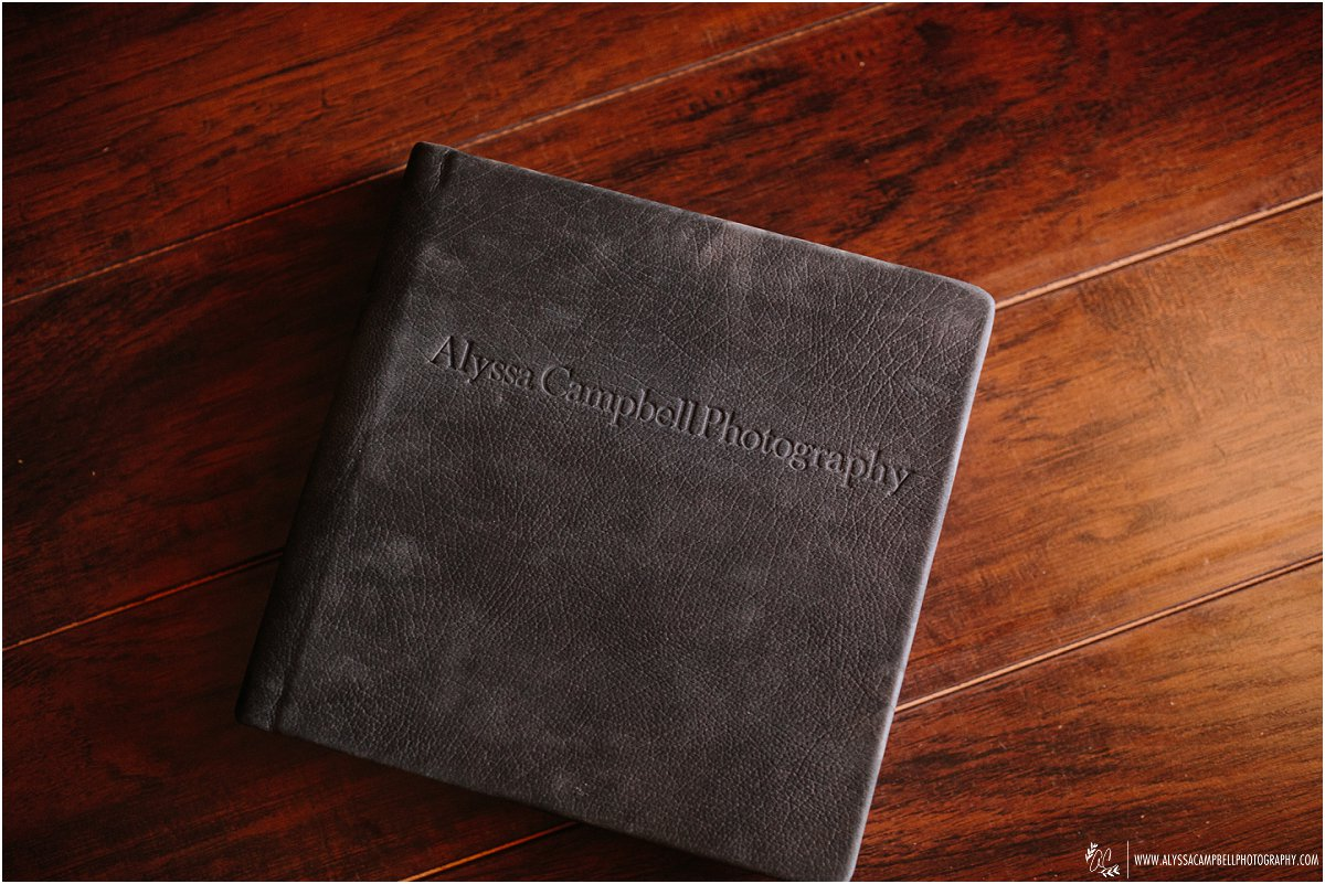 suede leather flushmount wedding album by Alyssa Campbell Photography Phoenix wedding photographer
