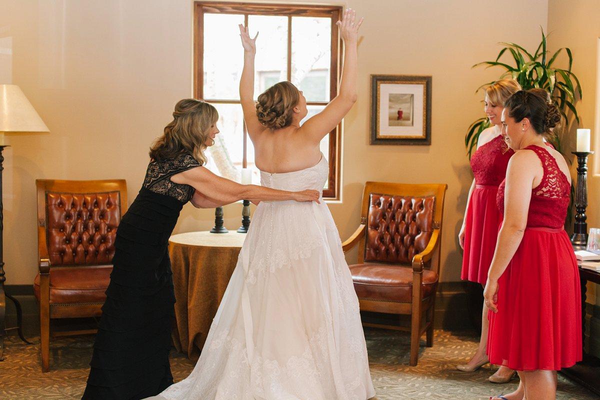 bride getting ready at Sassi weddings in Scottsdale AZ