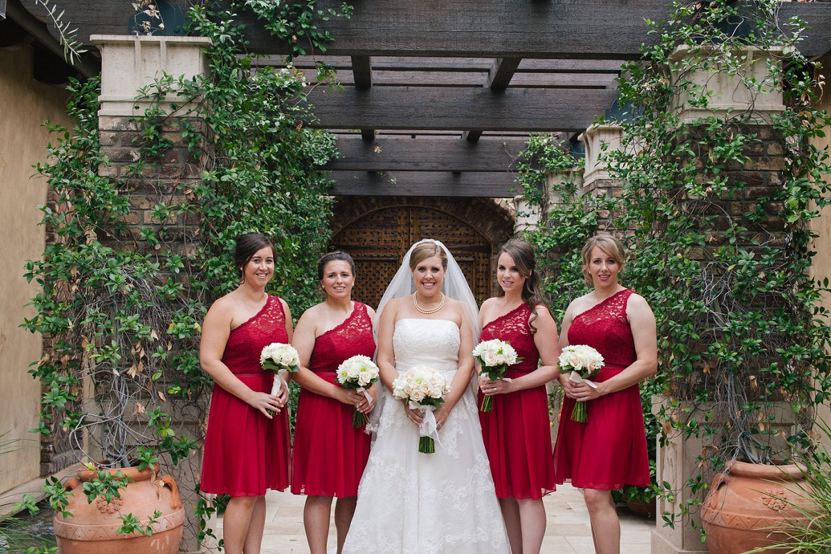 red & white classy wedding at Sassi in Scottsdale