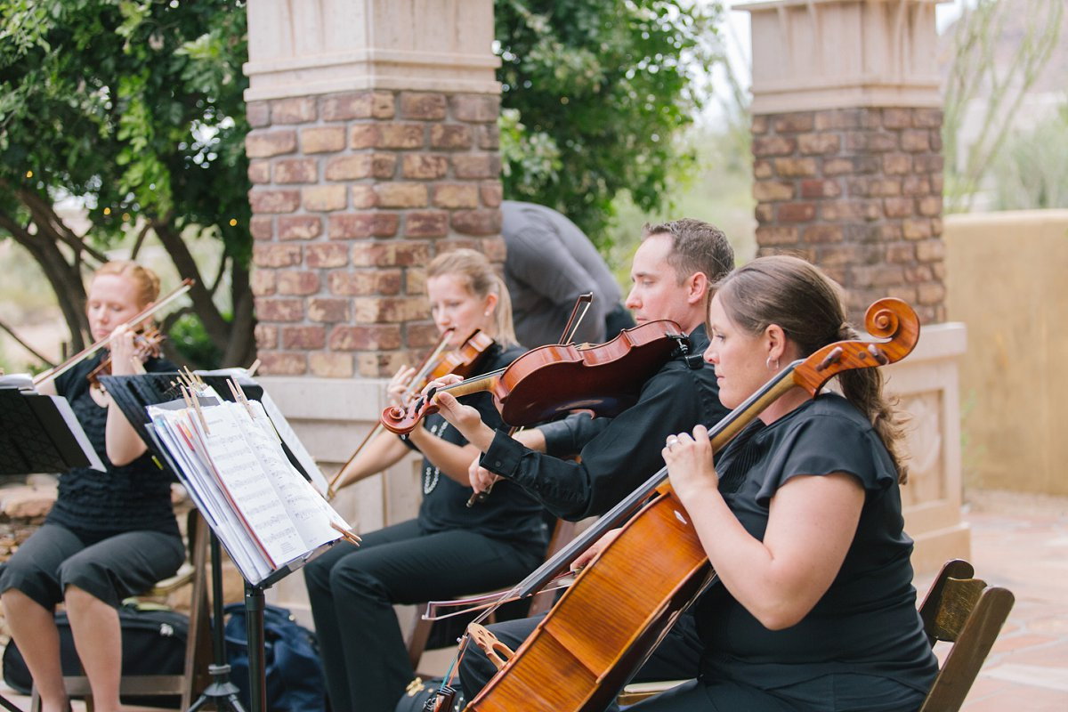 string quartet at Sassi classic wedding