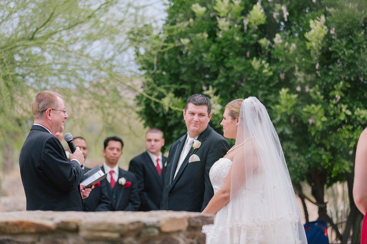 ceremony at Sassi outdoor desert Tuscan wedding venue