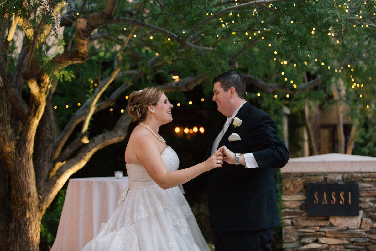 classy Sassi wedding reception bride & groom dancing