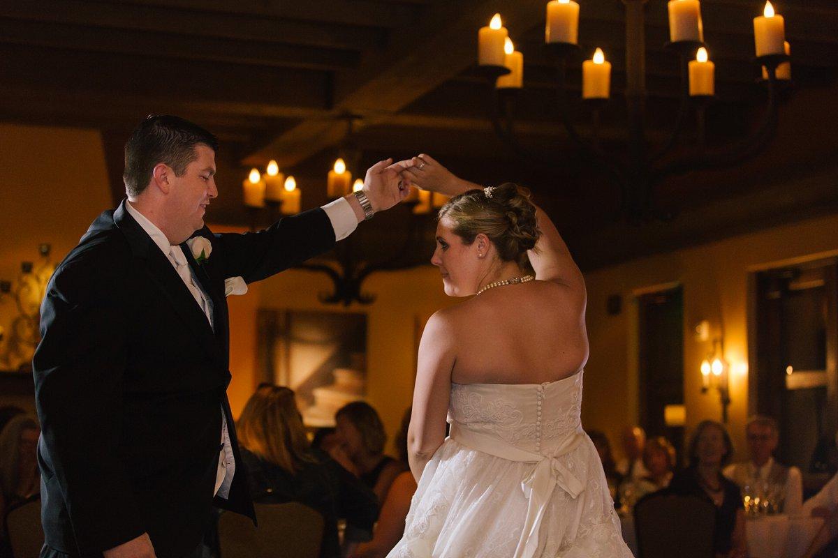 bride & groom first dance at Sassi wedding