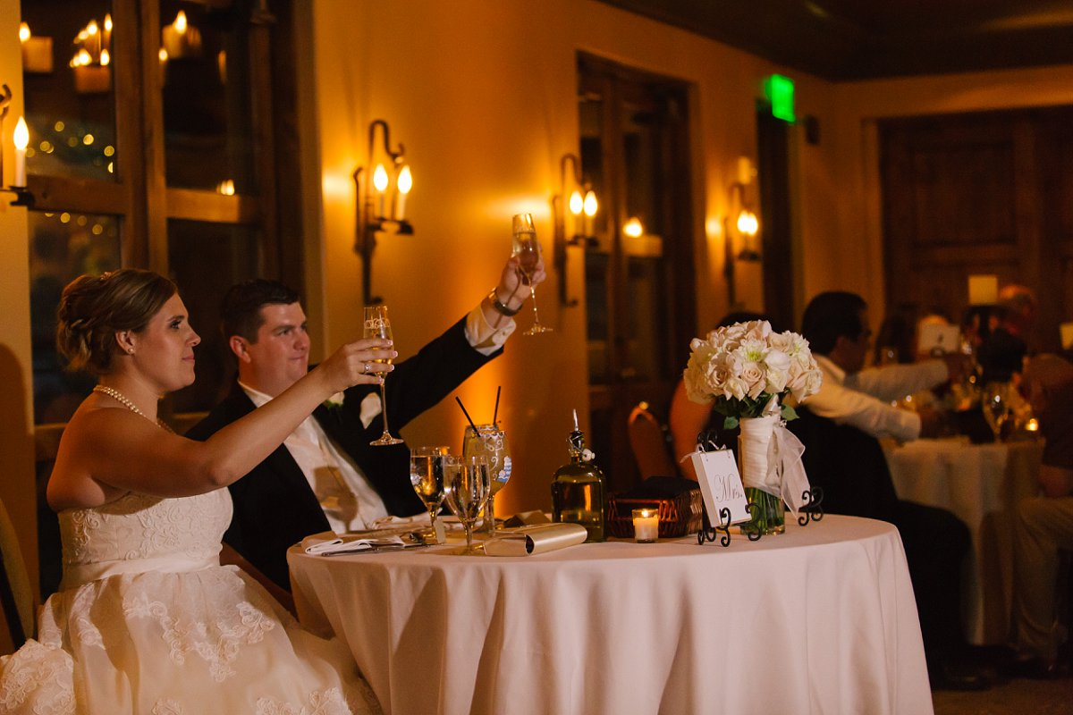 bride & groom toasts at Sassi