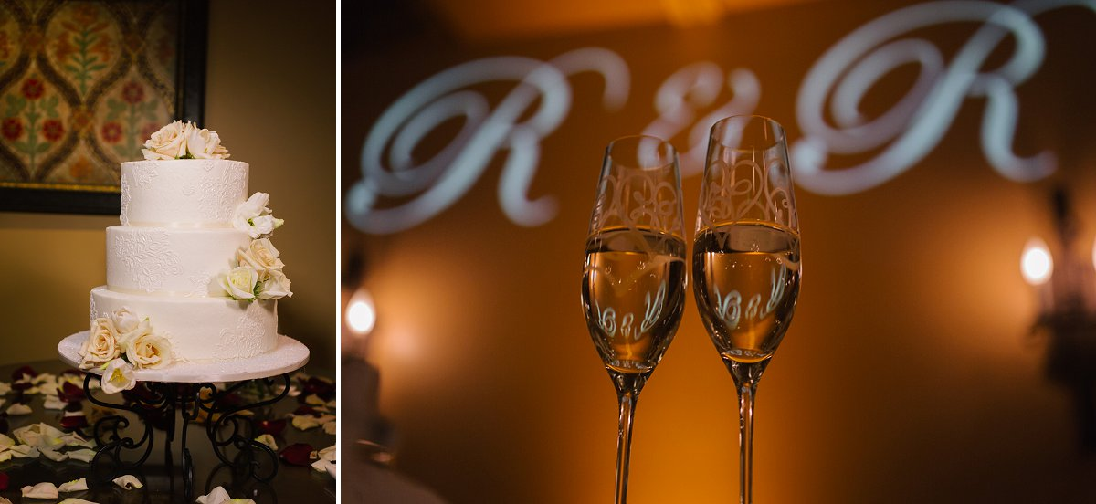 wedding reception details at Sassi