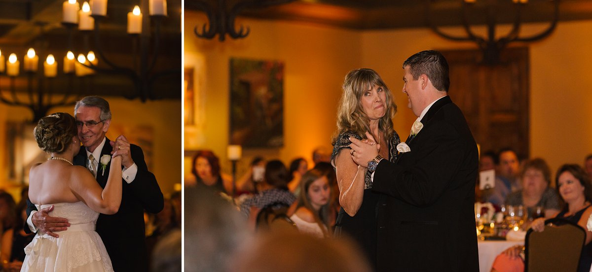 father daughter mother son dance at Sassi reception