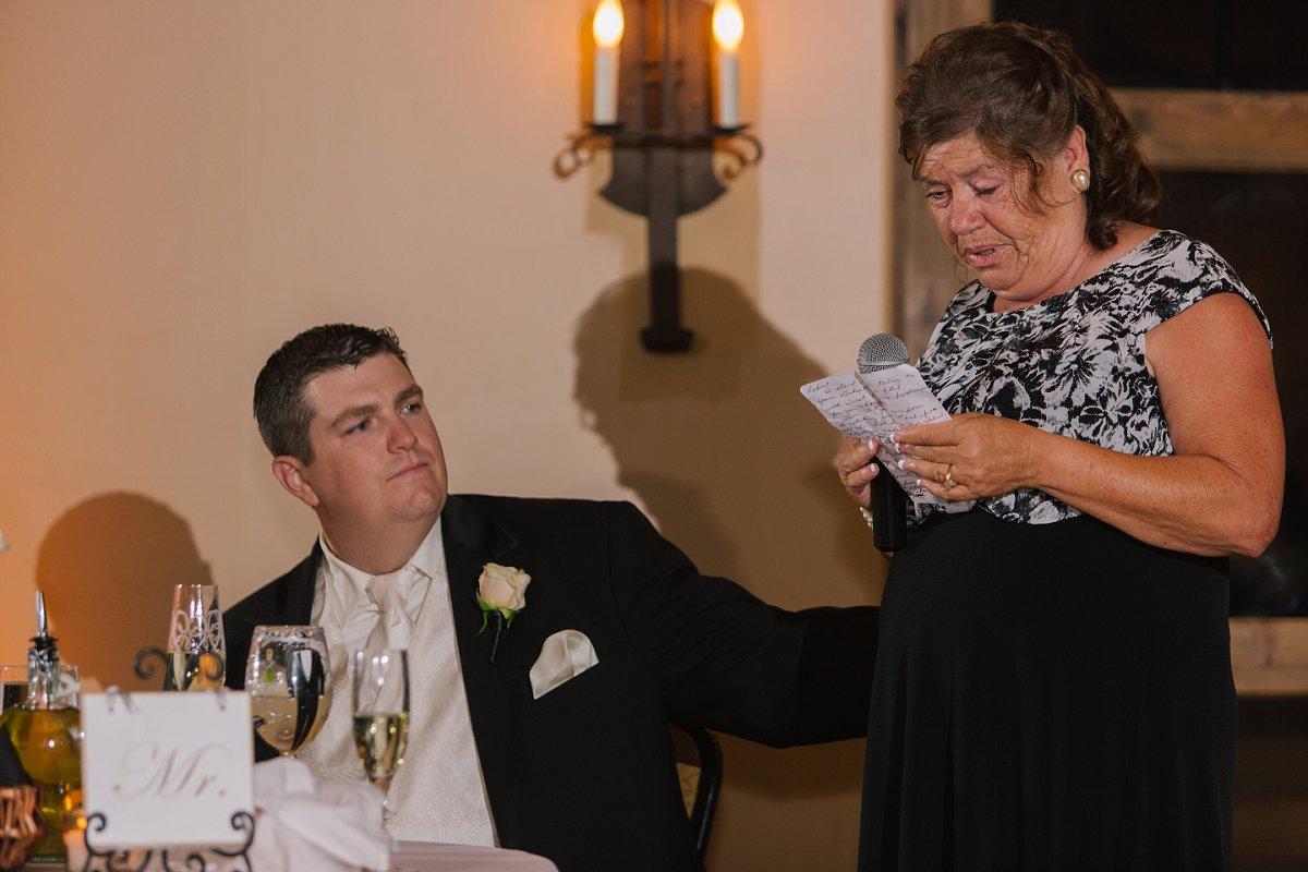 Sassi reception toasts