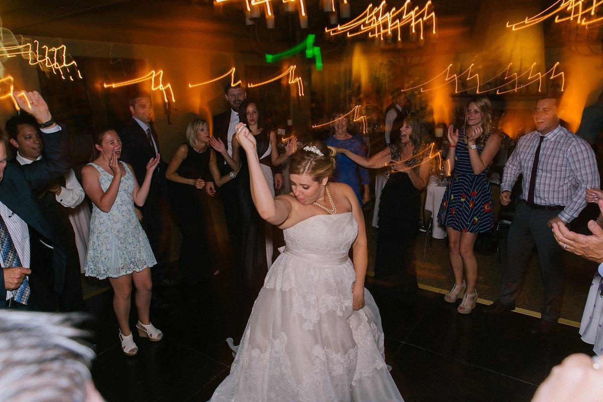 wedding reception dancing at Sassi