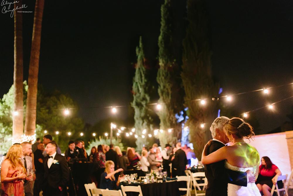 father daughter dance in backyard Peoria wedding