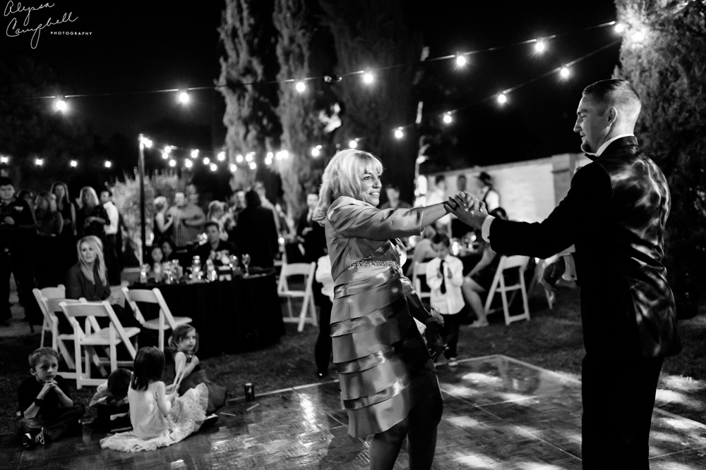 mother son dance in backyard peoria arizona wedding