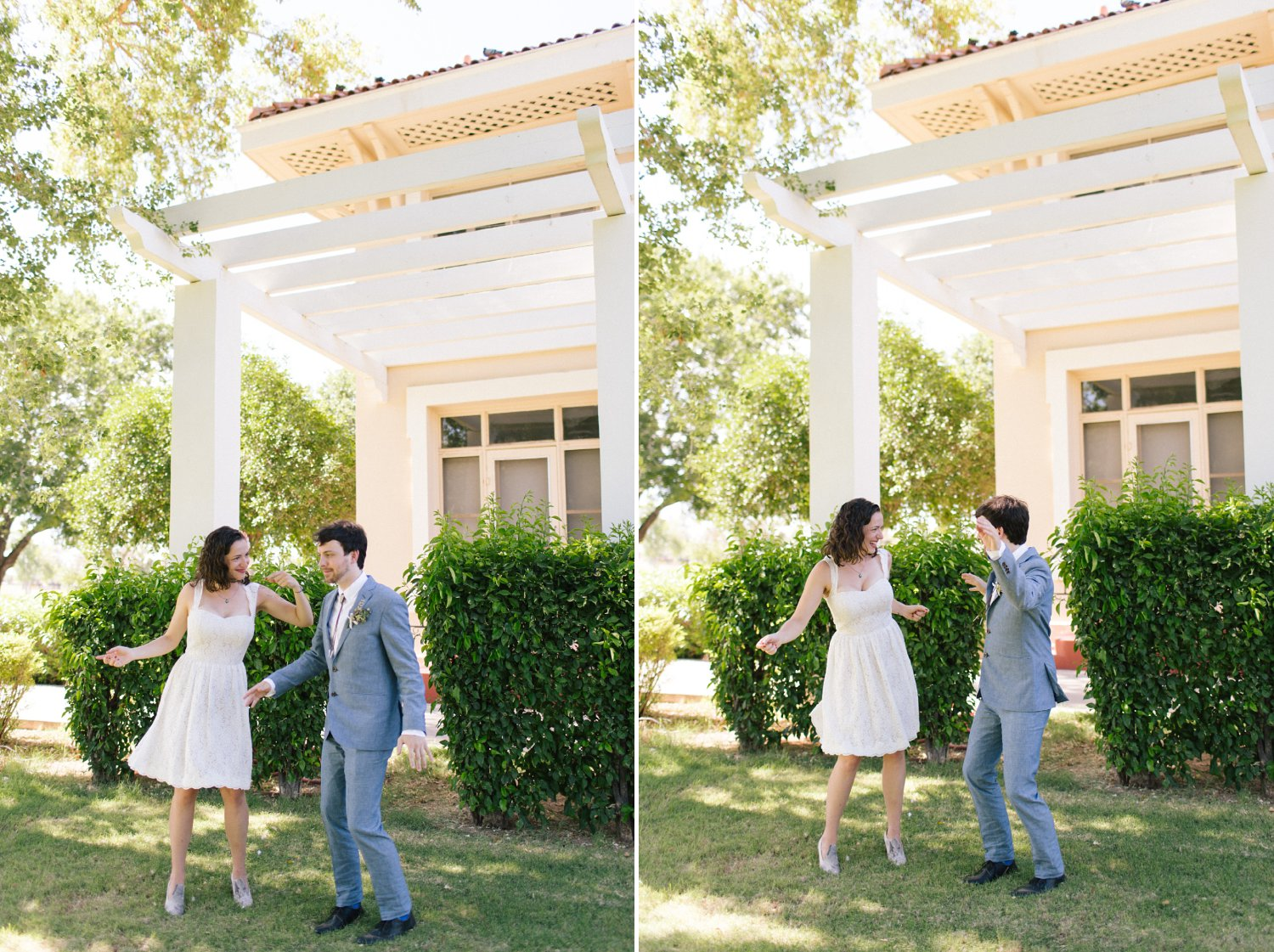 goofy fun bride & groom photos Phoenix moment-driven documentary wedding photographer