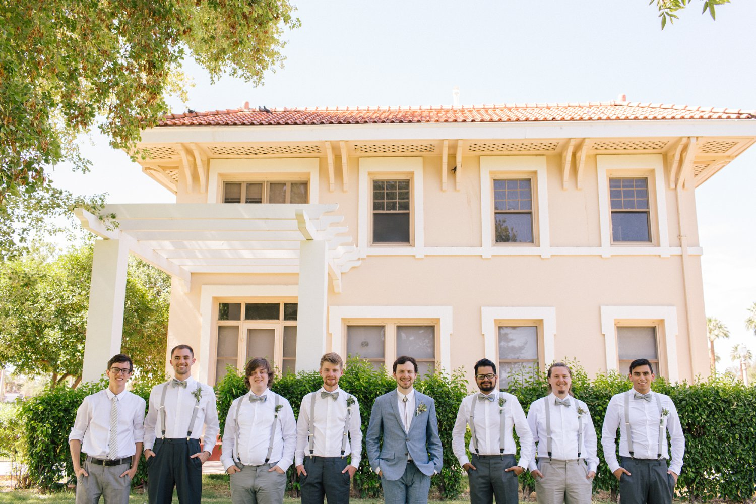 groomsment at Norton House Phoenix AZ wedding photographer