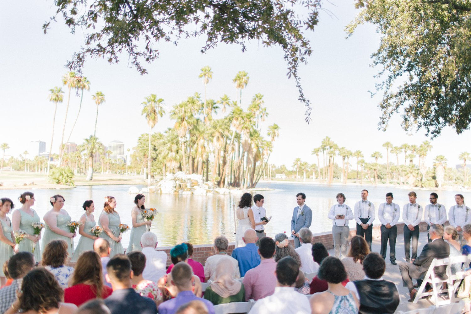 Encanto Park wedding ceremony