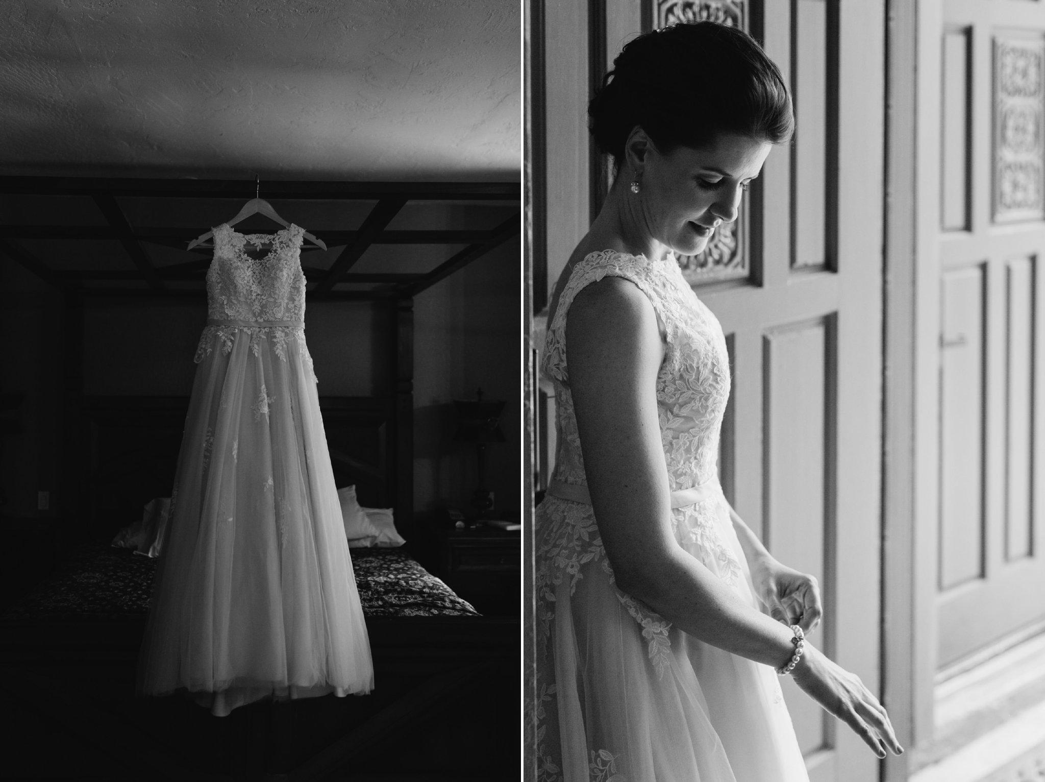 bride getting ready at Gold Canyon Resort & Spa