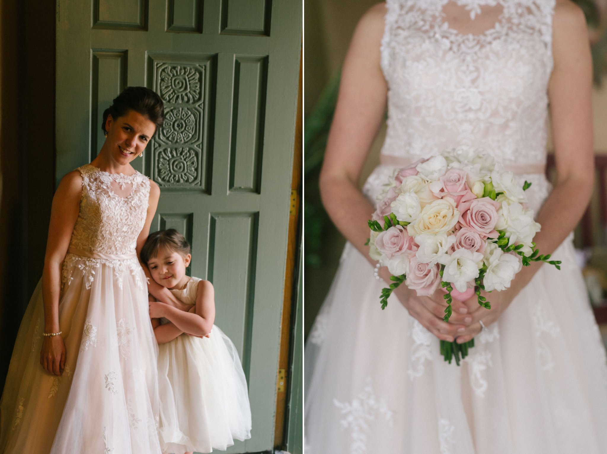 bride & her daughter on wedding day at Gold Canyon Golf Resort