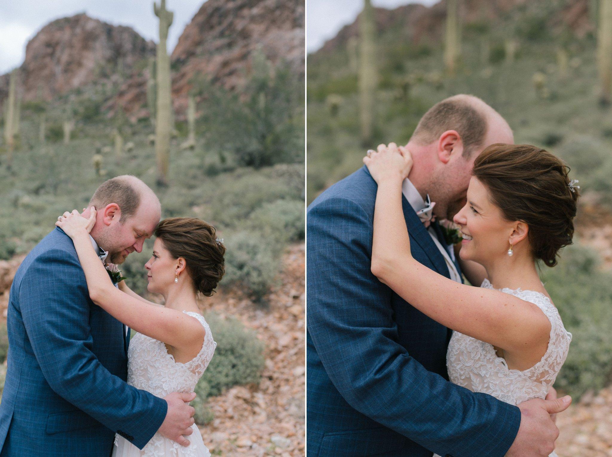 desert bride & groom portraits in Arizona at Gold Canyon Golf Resort