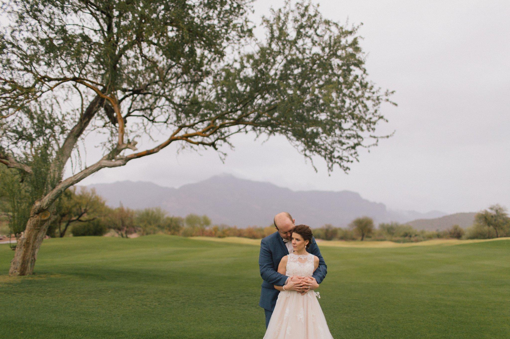 rainy Gold Canyon Resort wedding in Mesa