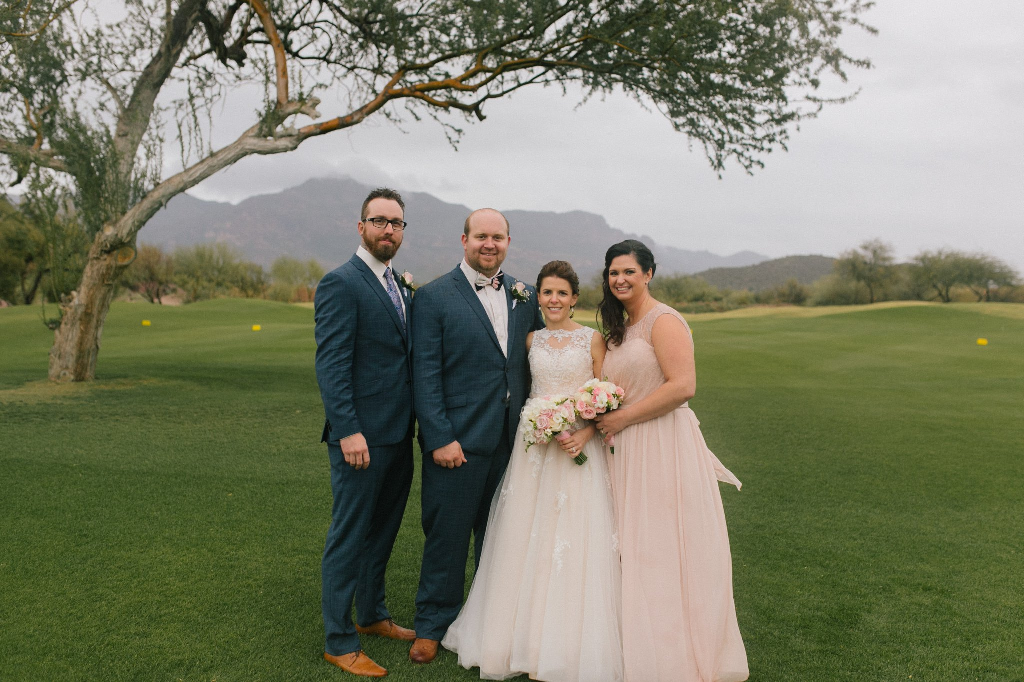 Gold Canyon Golf Resort wedding party