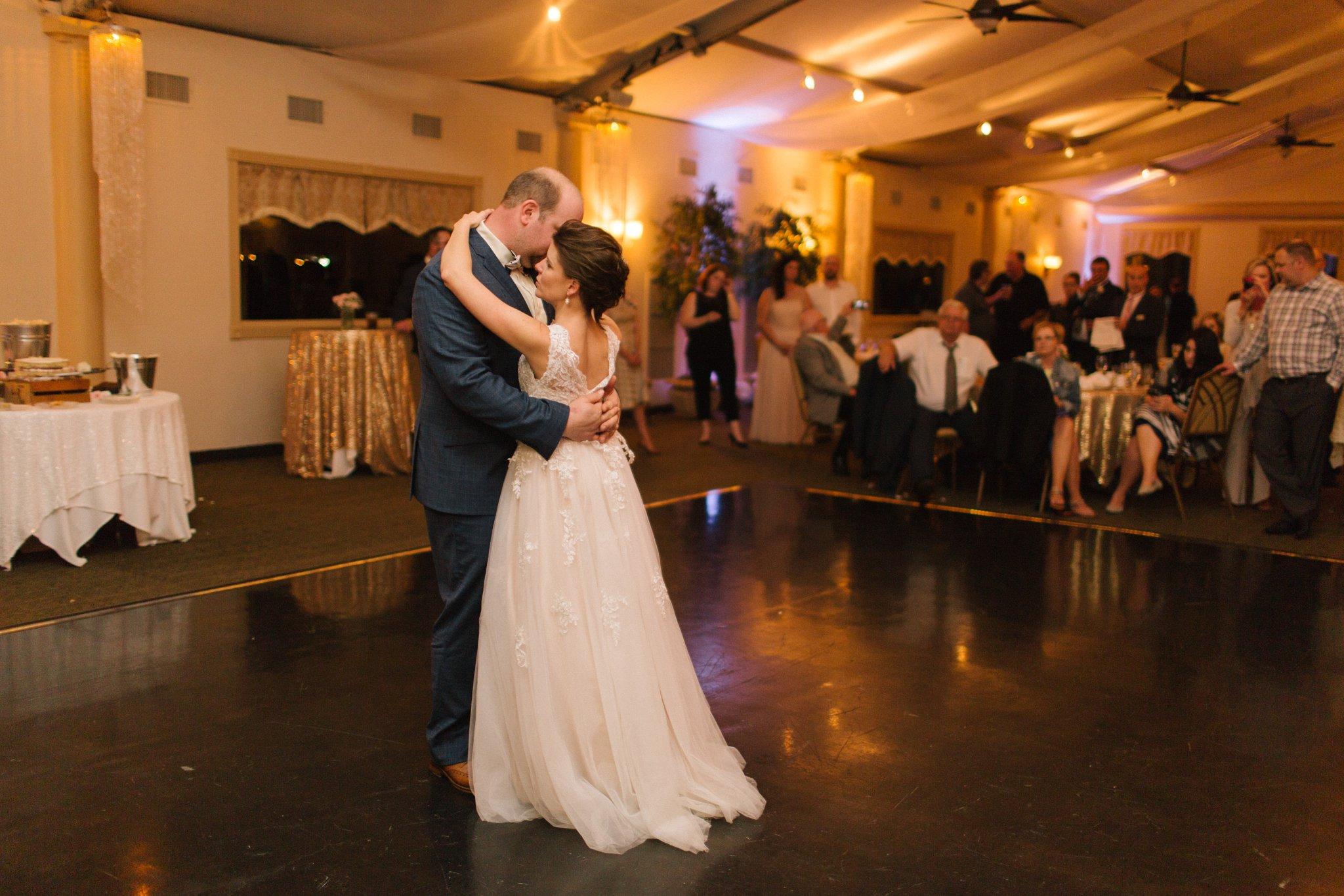 bride & groom first dance at Gold Canyon Golf Resort wedding