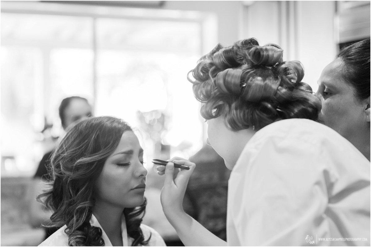 bride getting ready in Phoenix home