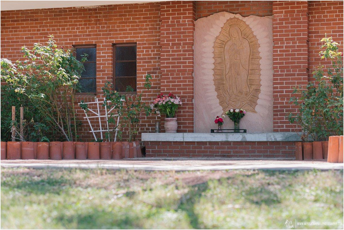 St Agnes Catholic Church Phoenix outside altar detail