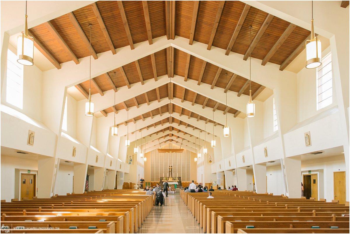 interior of St Agnes Church Phoenix wedding