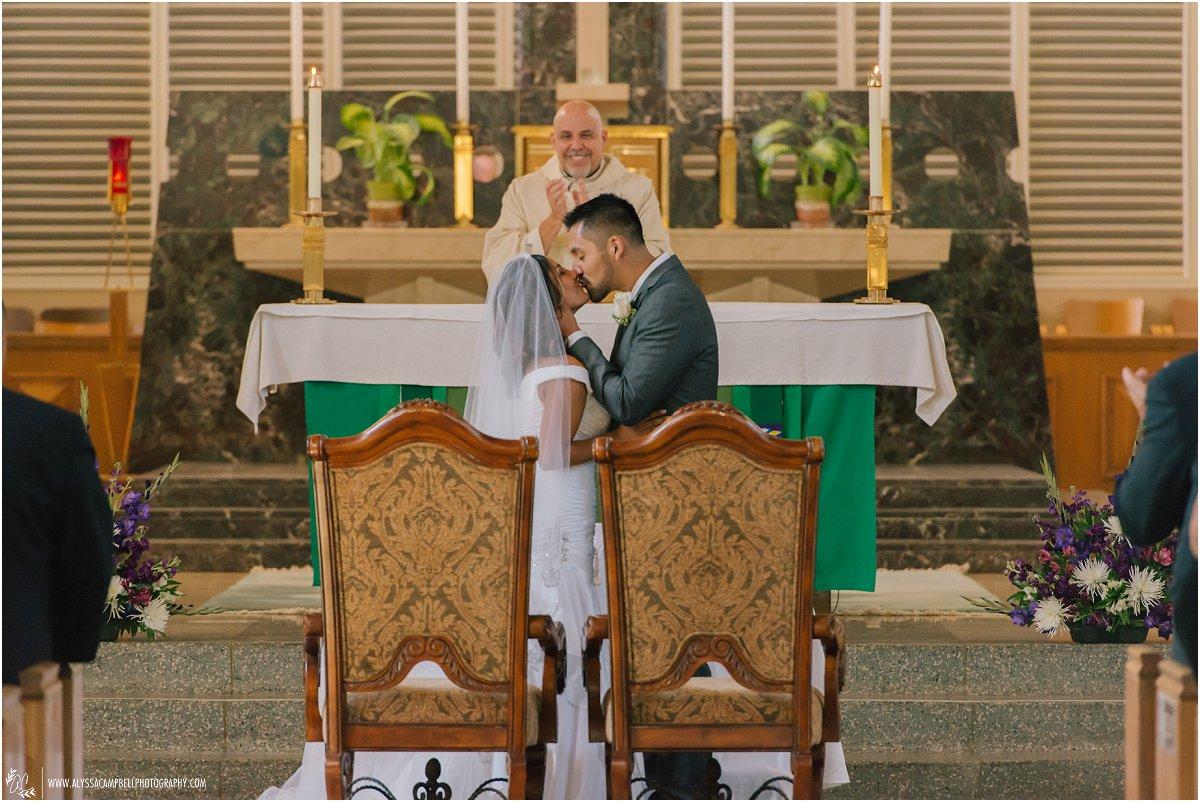 first kiss at St Agnes Church Phoenix AZ