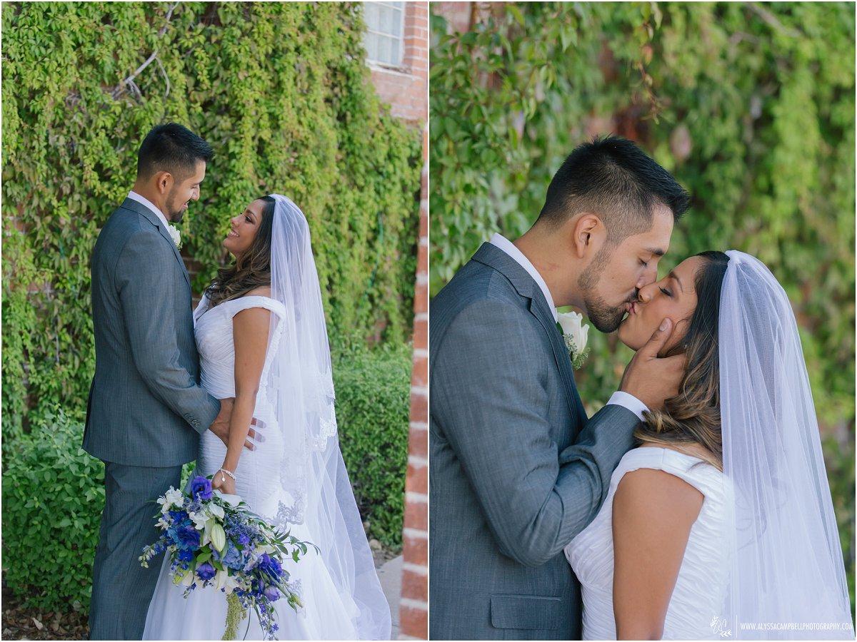 sweet and heartfelt photos of bride & groom at St Agnes Church Phoenix