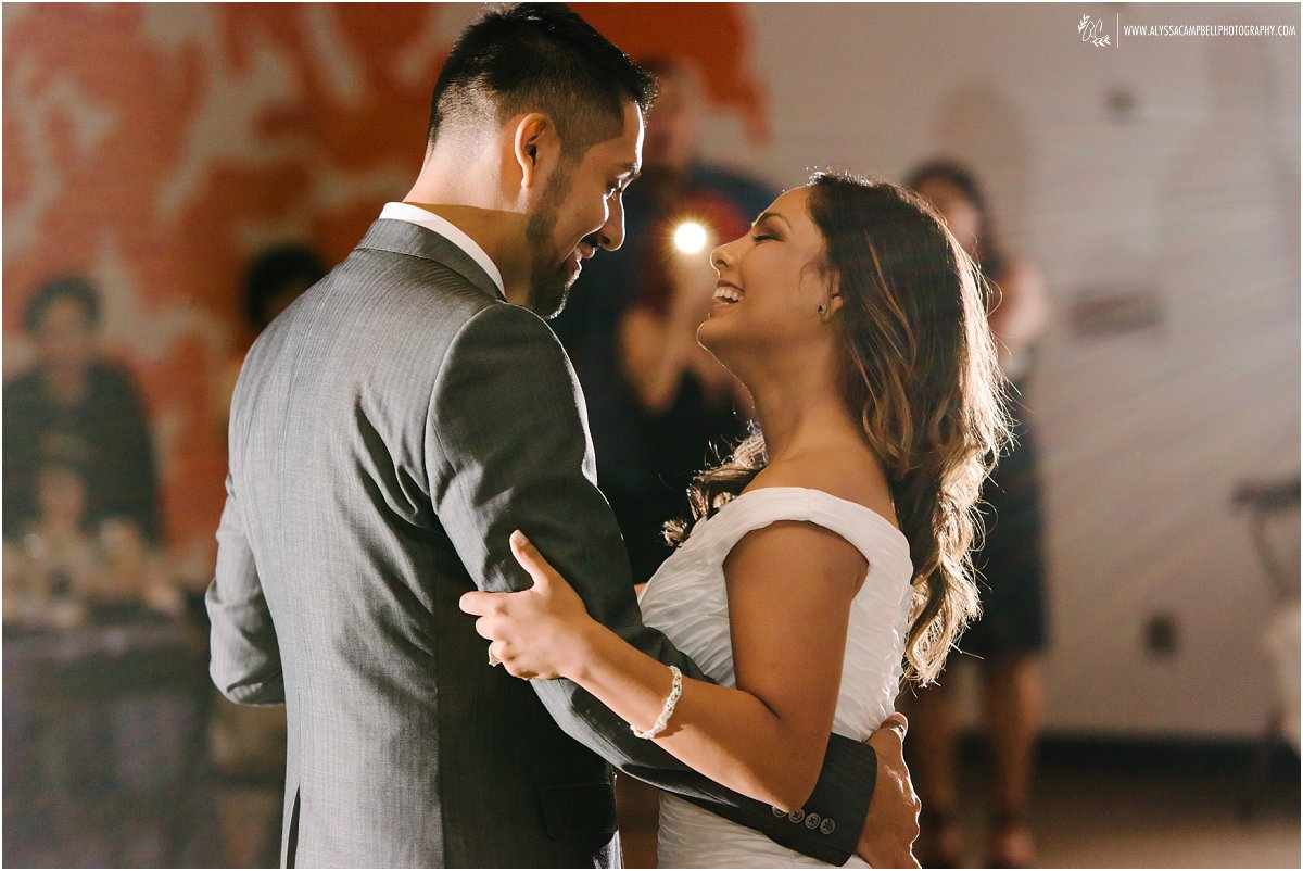 Phoenix Art Museum wedding reception bride & groom first dance