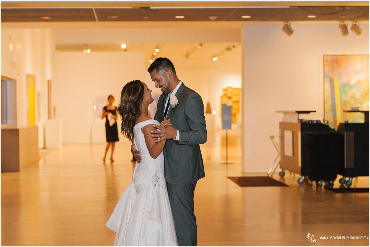 Phoenix Art Museum wedding reception first dance