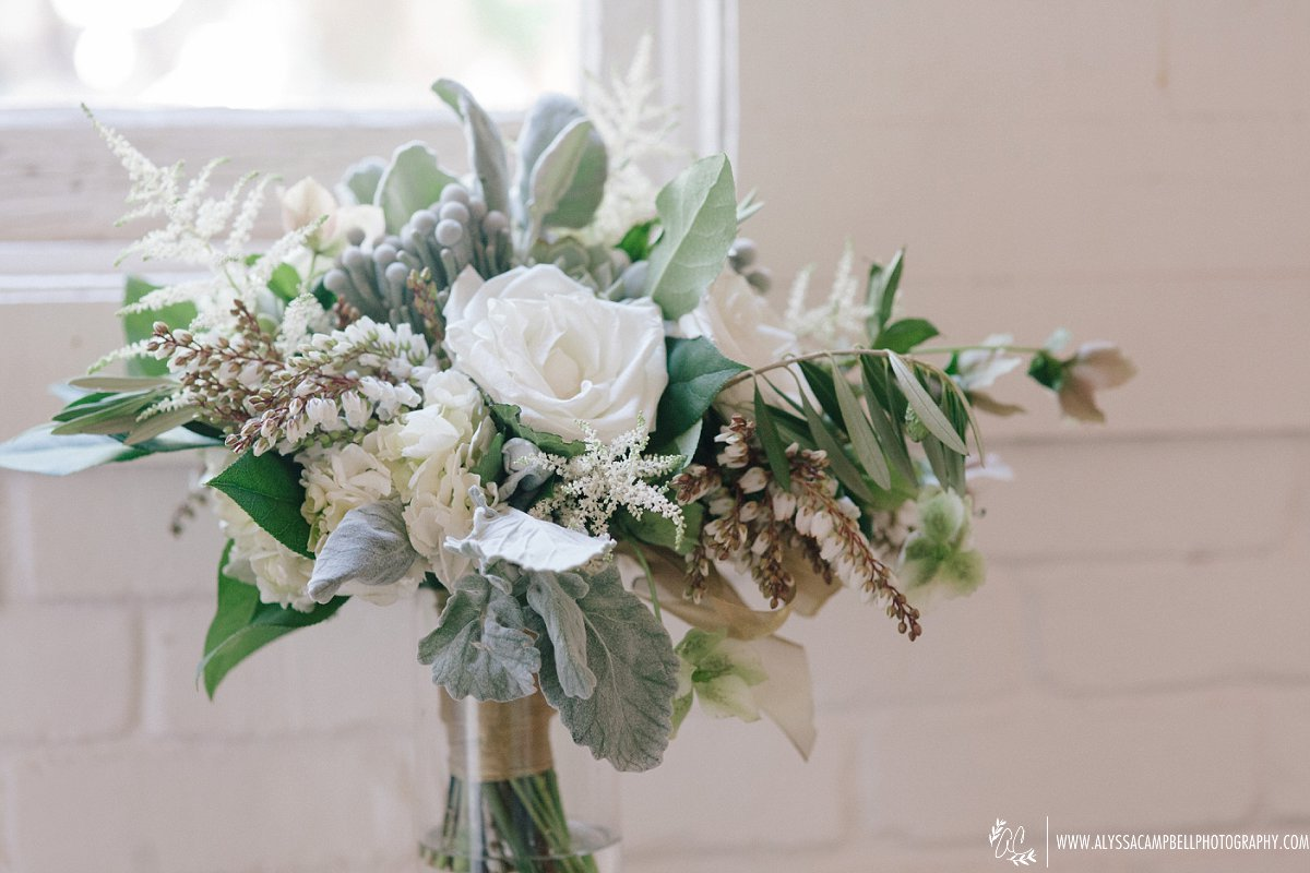 beautiful organic bridal floral bouquet by Sarah's Garden by Alyssa Campbell Photography