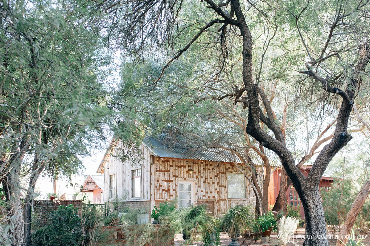 windmill winery florence AZ rustic wedding venue bridal cottage by Arizona rustic wedding photographer Alyssa Campbell