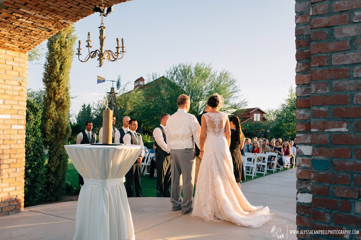 Windmill winery wedding ceremony by Alyssa Campbell Photography