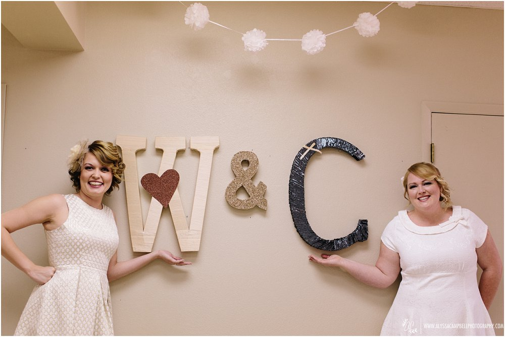 two brides by cute DIY initials