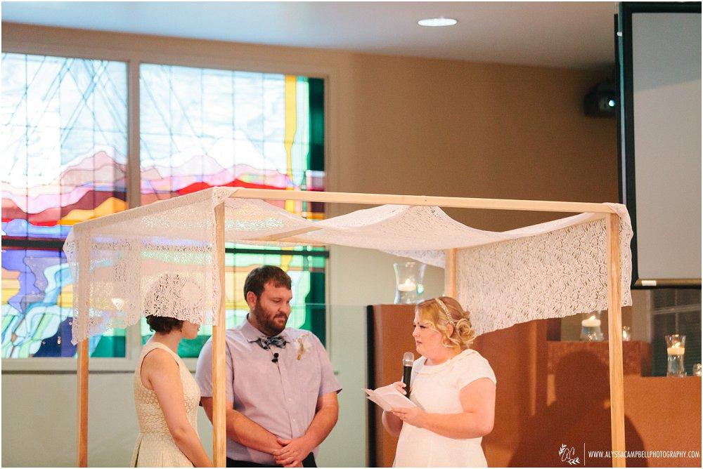LGBT friendly church marrying two brides in Phoenix AZ wedding vows