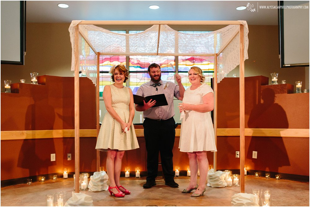 same sex wedding Phoenix AZ church marrying two brides