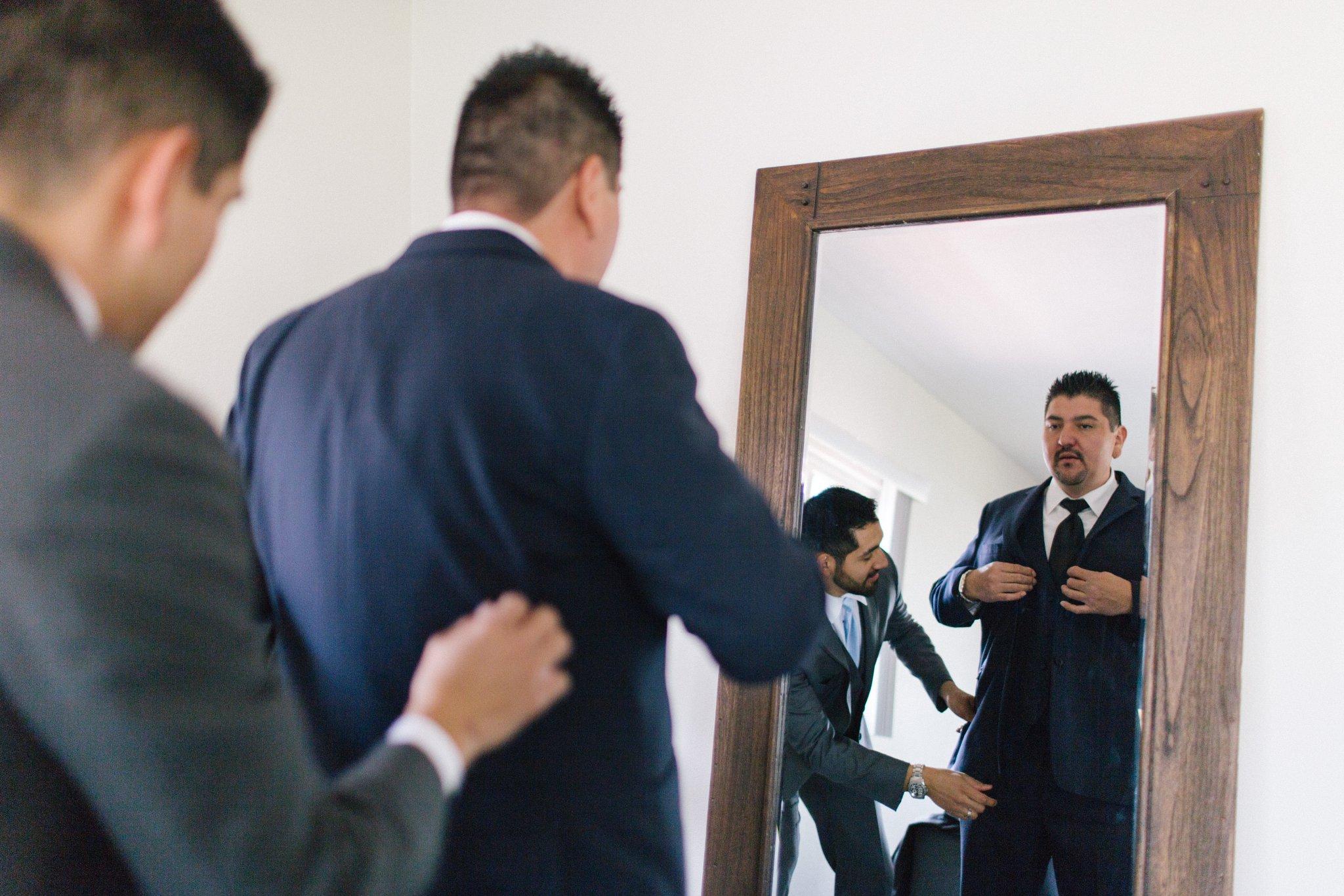 groom getting ready Phoenix wedding