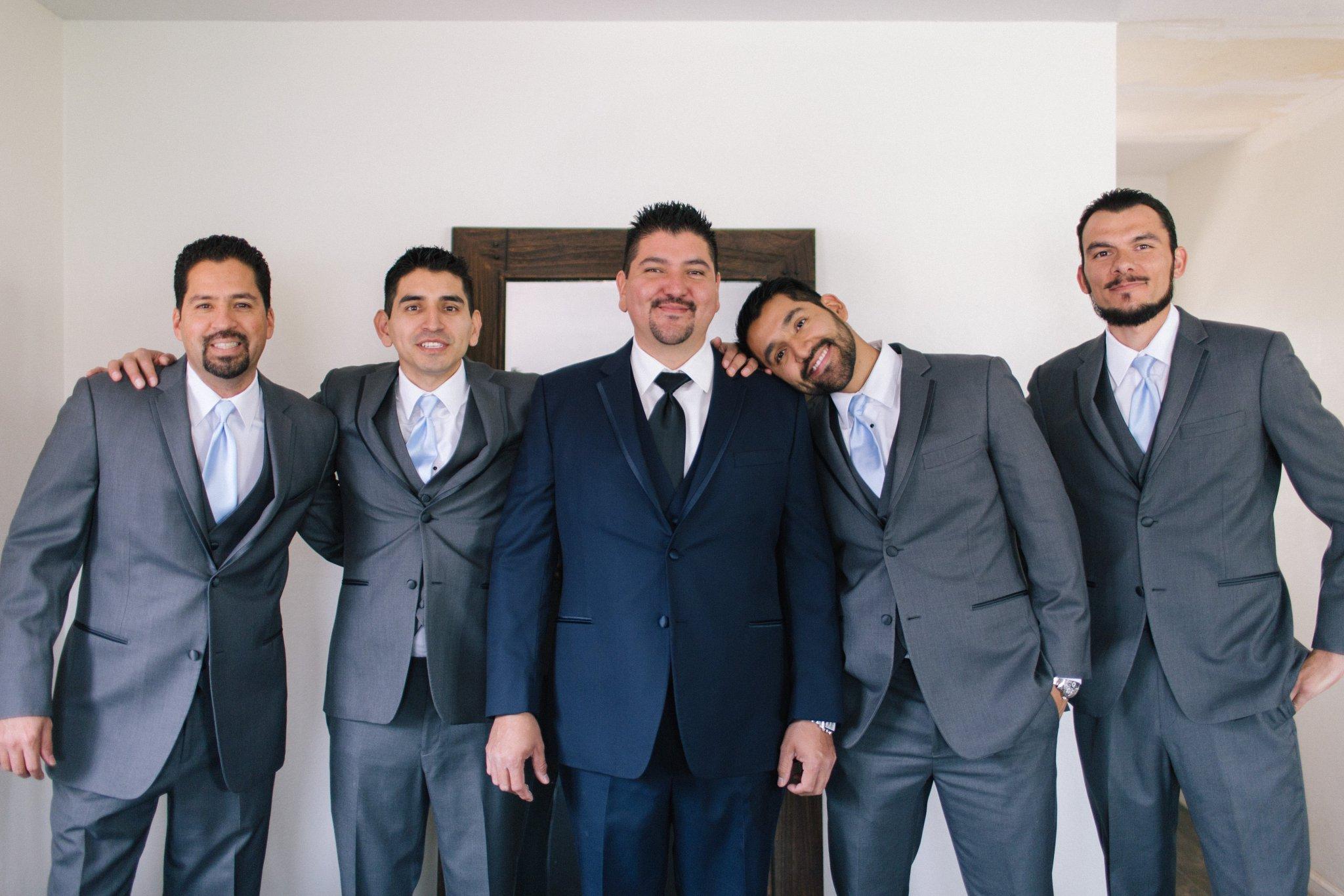 groom & groomsmen Phoenix wedding