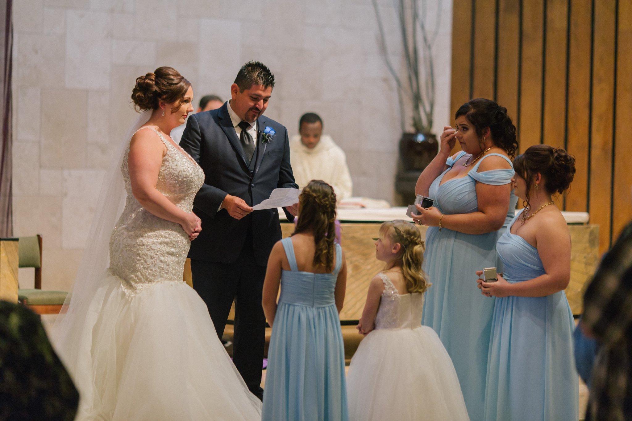 groom vows to bride's children Catholic wedding ceremony Phoenix
