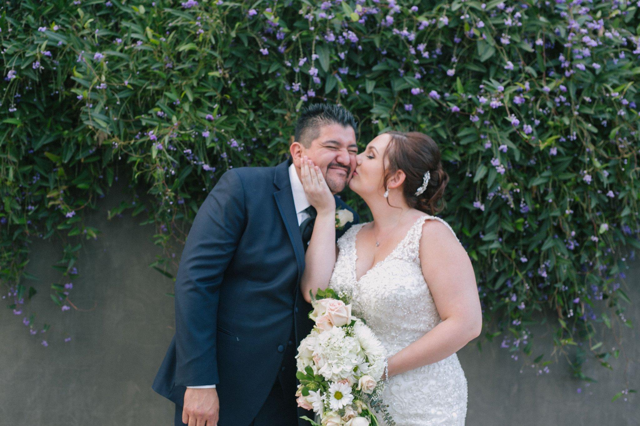 Desert Botanical Garden bride & groom
