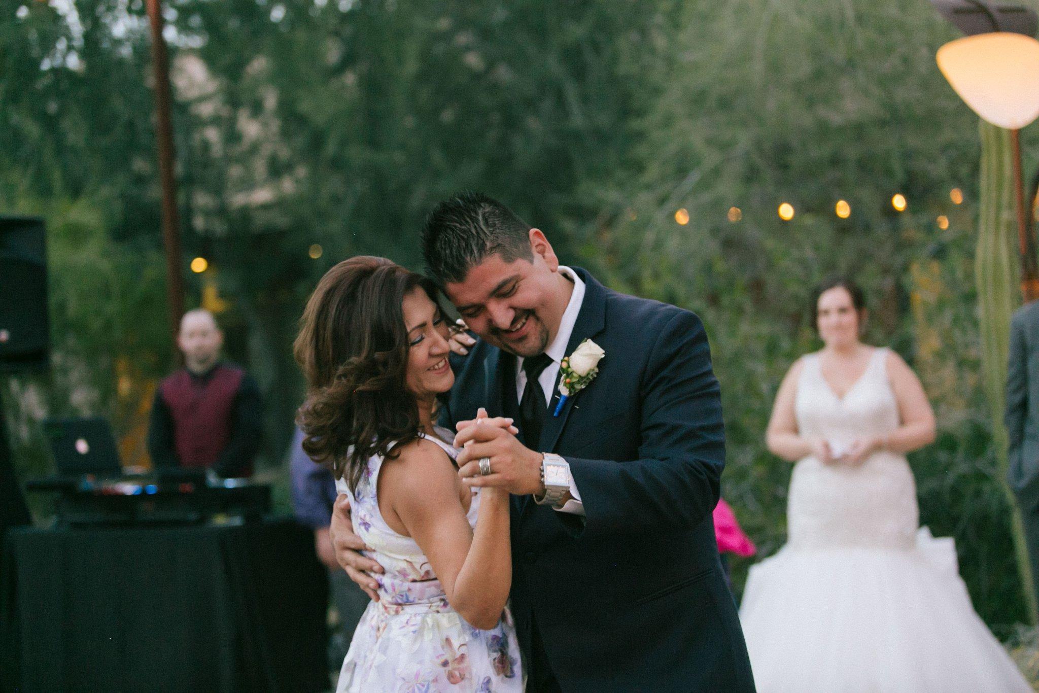 Desert Botanical Gardens outdoor reception mother son dance