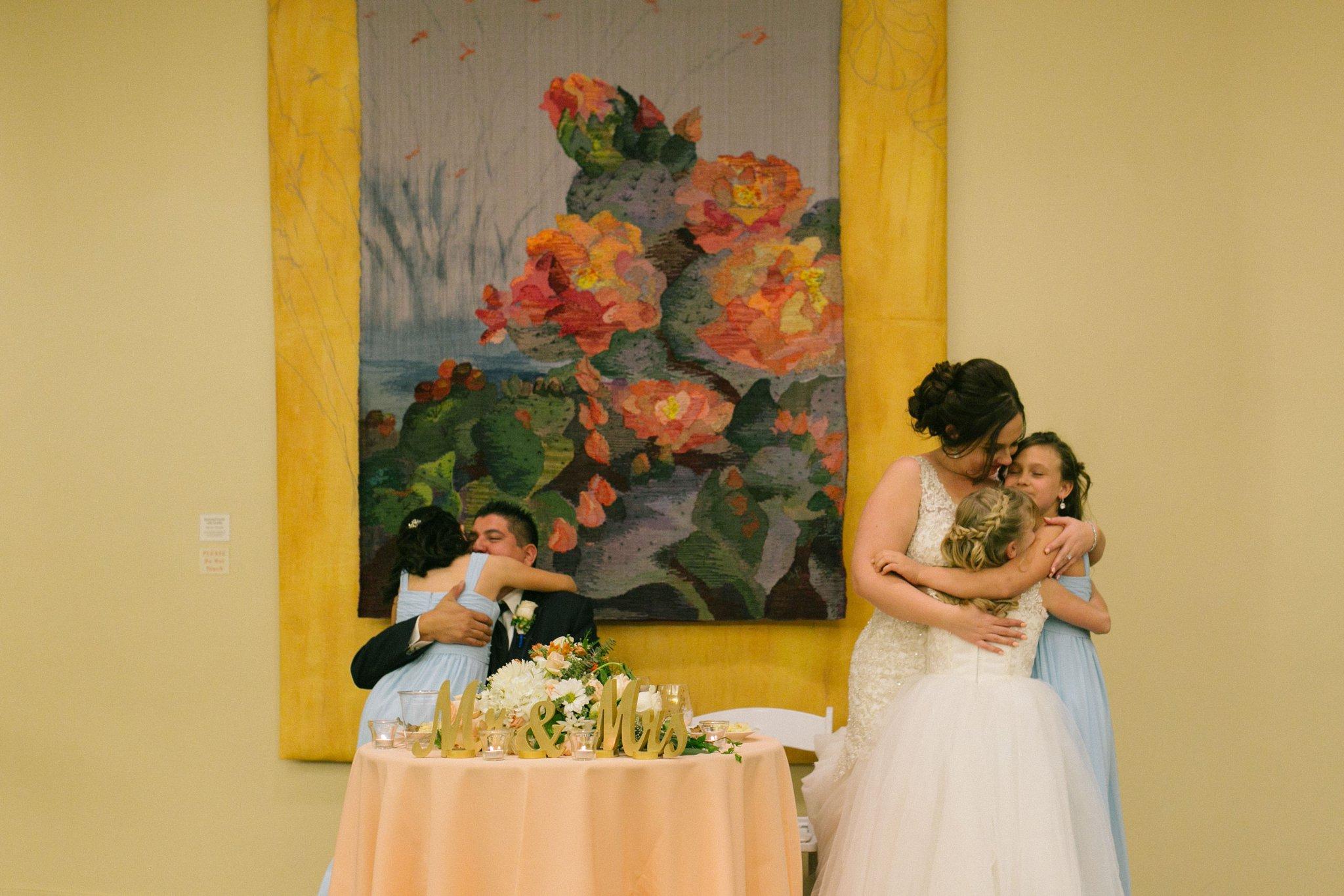 Desert Botanical Gardens reception candid Phoenix wedding photographer