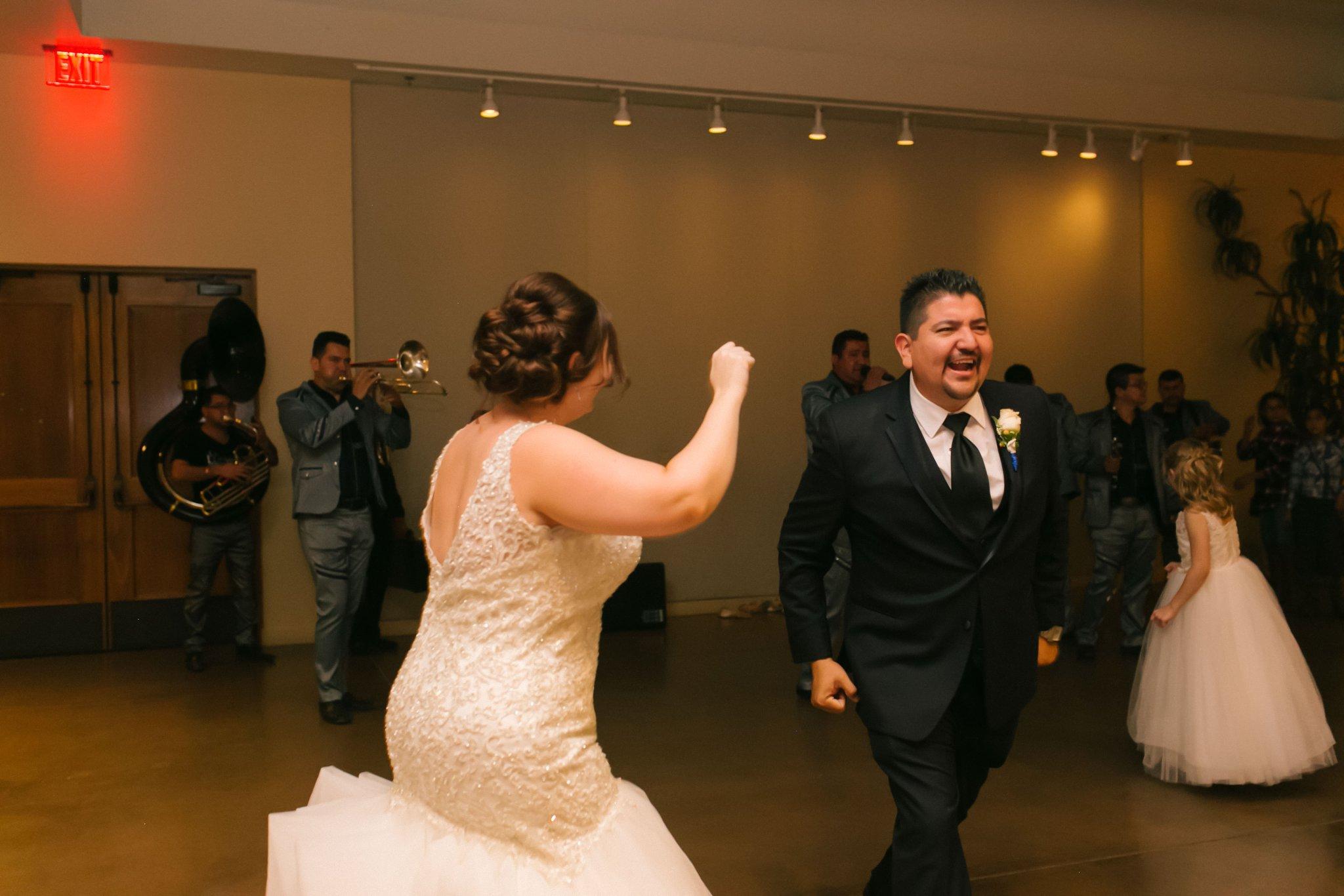 Desert Botanical Gardens reception groom surprise