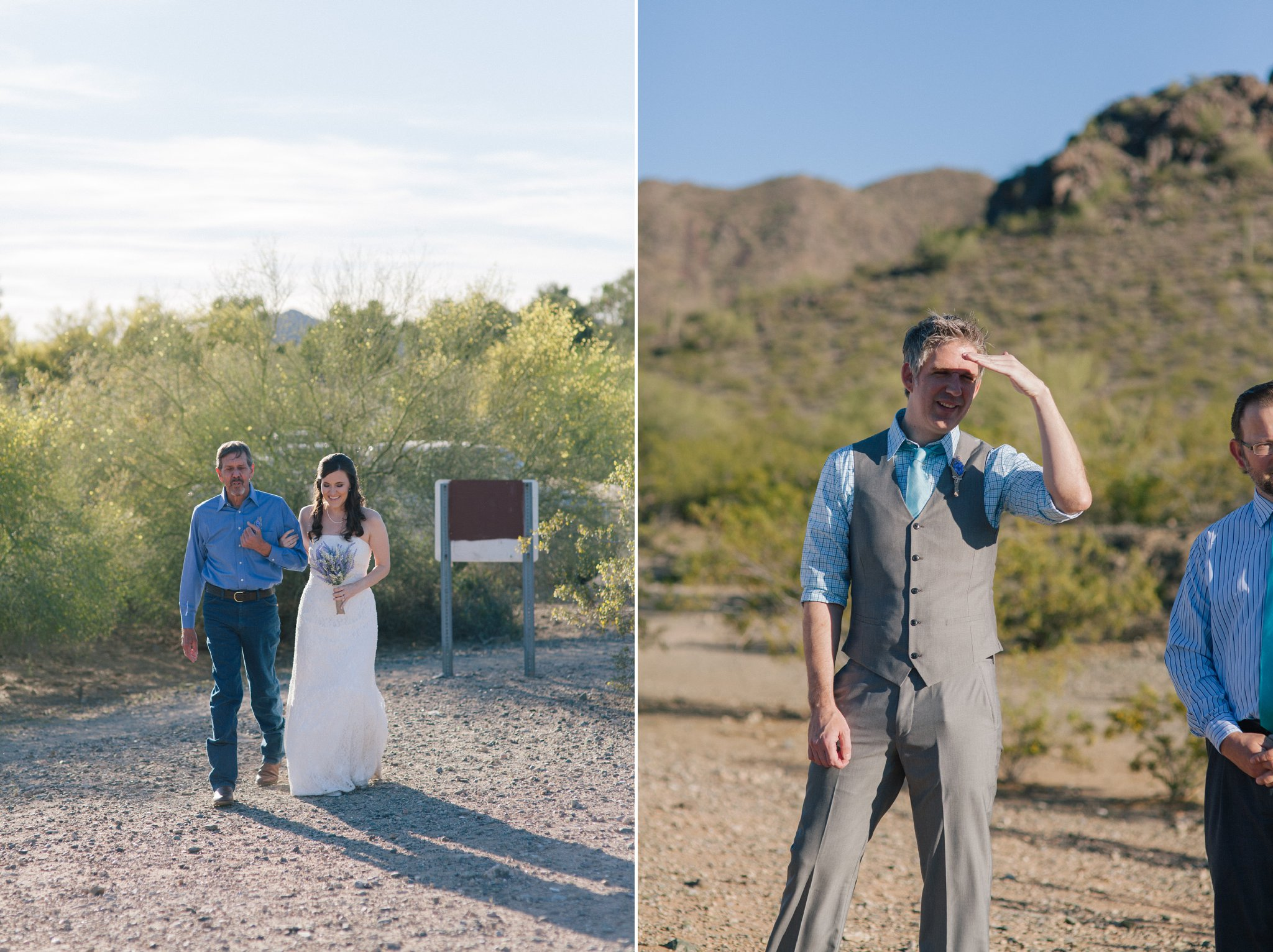Phoenix Mountains Preserve small outdoor wedding