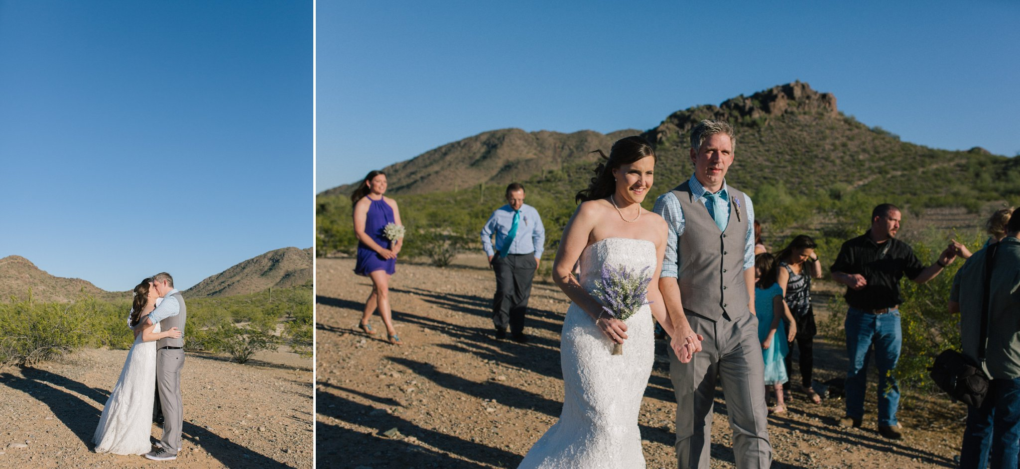 Phoenix mountains small wedding ceremony