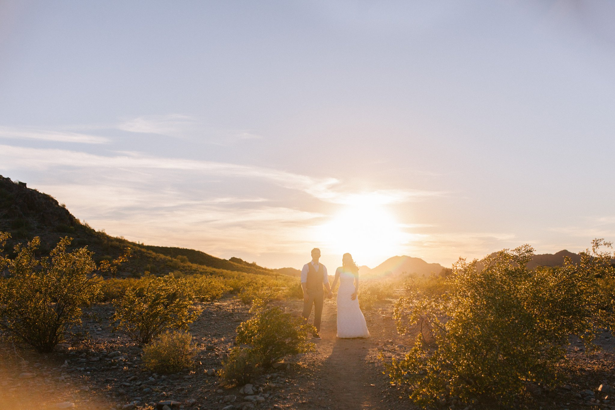 Phoenix mountains desert elopement